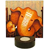 TYYC Lord Ganesha Tealight Candle Holder | Diwali Gifts Items Euphoric Lord Ganesh Idol Tea Light Holders Set Of 1 - 6X6 Inches| T-lights Candles Diyas Lights For Pooja, Puja, Mandir Home Decor Items | Diwali Corporate Gifts