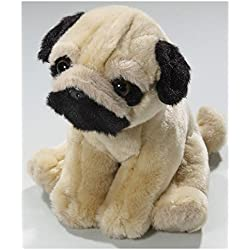 Peluche - Perro Pug, Carlino sentado (felpa, 18cm)