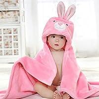 DINGANG® - Toallas de baño para bebé de franela, 0-6 años, con diseño de animales
