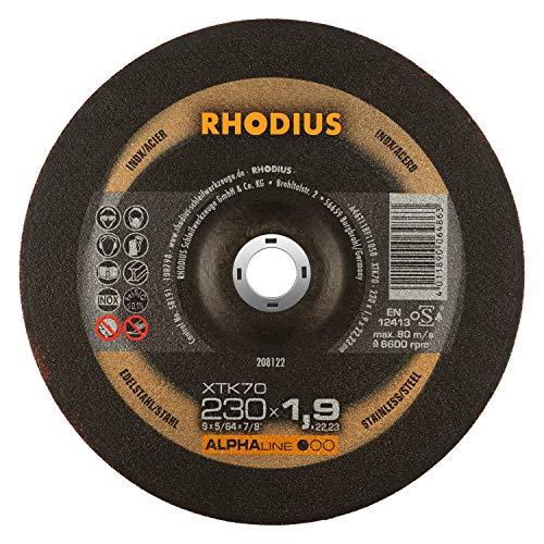 RHODIUS extra dünne INOX Trennscheiben Metall XTK70 Ø 230 mm für Winkelschleifer Metalltrennscheibe 25 Stück