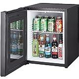 Syntrox Germany 52 Liter Null DB-lautloser Mini Kühlschrank mit Glastür