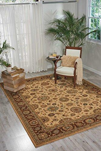 Beige Persische Wolle Teppich (Nourison Teppich Mondrian 99446676948–Beige maschinell hergestellt Teppich, beige, 8ft 3Zoll x 11ft 3Zoll)