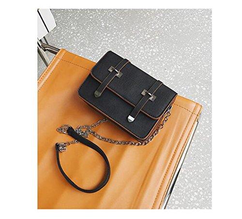 QPALZM Damen-Niet-Leder-Beutel-Geldbeutel-Schulter-Beutel Mit Quaste Mini Black