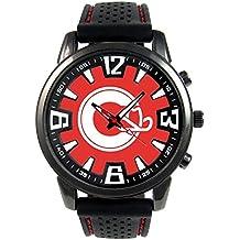 Canada Calgary Reloj para hombre con correa de silicona