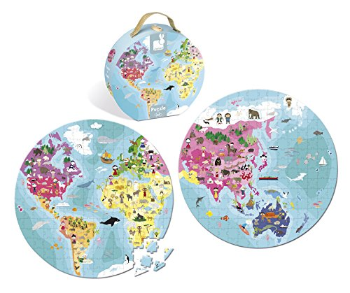 Janod - Jigsaw puzzle pack of 208 pieces children and animals of the world (J02926)