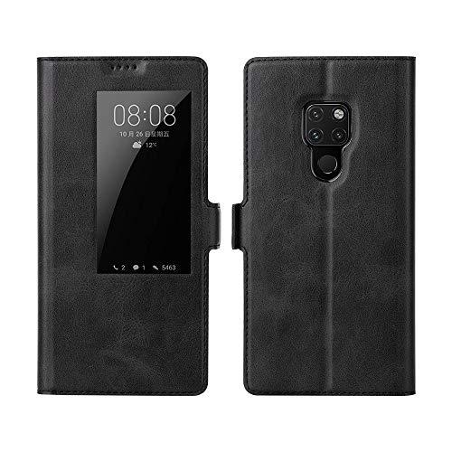 Eastcoo Kompatibel Huawei Mate 20 Hülle, Premium PU Leder Smart Flip Case Tasche Schutzhülle Handyhülle mit [Wake up][Standfunktion][Magnetic Closure] für Huawei Mate 20 (Huawei Mate 20, B-Blue) Premium Flip Case