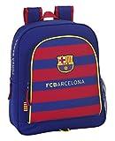 Safta FC Barcelona Mochila Junior Adaptable, 32 x 38 x 12 cm, Color Azul Marino