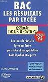BAC - LES RESULTATS PAR LYCEE / LES TAUX DE REUSSITE LYCEE PAR LYCE - PAR SERIE ET PAR SPECIALITES DANS LE PUBLIC ET LE PRIVE....