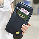 #6: Clomana Long Travel Passport Pouch Credit Debit Card Ticket Coins Money Holder Wallet
