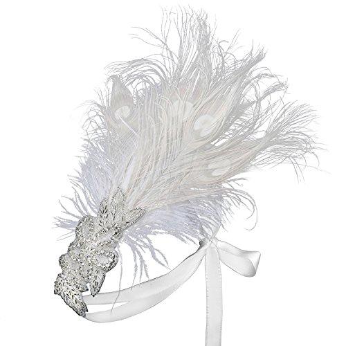 Babeyond Damen Stirnband Flapper 1920s Stil Stirnband mit -