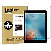[2-Unidades] Protector de Pantalla iPad 9.7 pulgadas 2018 / iPad 9.7 2017 / iPad Pro 9.7 2016 / iPad Air / iPad Air 2 (iPad 5 & 6) [Garantía de por vida], iVoler Cristal Vidrio Templado Premium para Apple iPad 9.7'' 2018 / iPad 9.7'' 2017 / iPad Pro 9.7'' 2016 / iPad Air / iPad Air 2 (iPad 5 & 6) [9H Dureza] [Alta Definicion 0.3mm] [2.5D Round Edge]