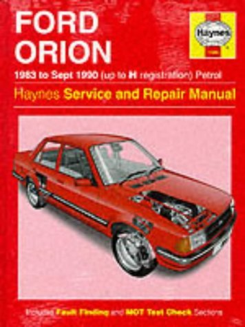 Haynes Ford Orion (Petrol) by Ian Coomber (1-Sep-1988) Paperback