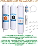 Aquadyne Filter Service Kit for Aquaguard Enhance Ro+Uv with Installation Guide 1- Piece