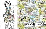 Lillestoff Zoo Susalabim Jersey - Bio Kinder *** 50 cm x