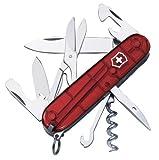 Victorinox - Navaja de acampada, tamaño único, color rojo transparente