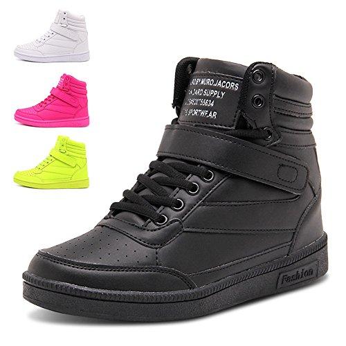 Donna Stivali Zeppa Sneakers Scarpe da Ginnastica da Polacchine Stivaletti Strappo Stealth Tacco 8 CM Scarpe Sportive