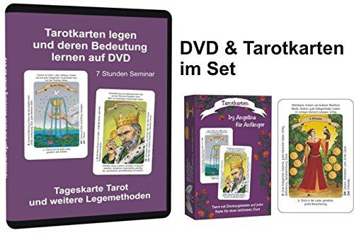 Preisvergleich Produktbild Tarotkarten für Anfänger im Set mit der DVD Tarot (ein 7 Stunden Seminar mit Deutungshilfen und Legesystemen, damit man sofort starten kann)