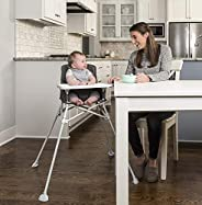 Regalo My High Chair Portable Travel Fold & Go Highchair, Indoor and Outdoor, Bonus Kit, Includes Travel C