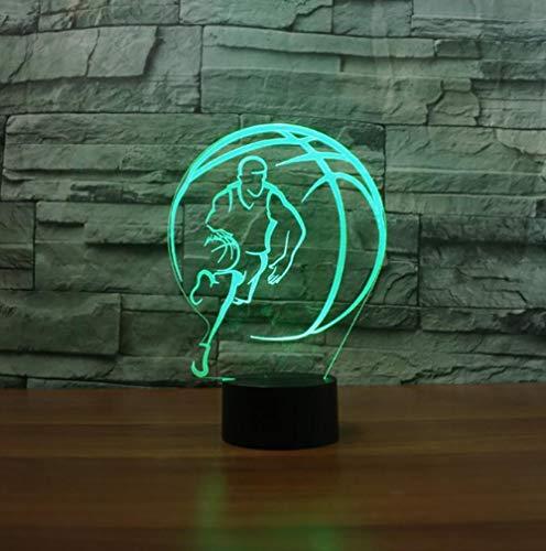 Nachtlicht 3d, nacht lampe led, schlaf licht, ball tischlampe touch 7 farben ändern illusion usb schlafzimmer dekor für mädchen und jungen geburtstag weihnachten halloween beste geschenke