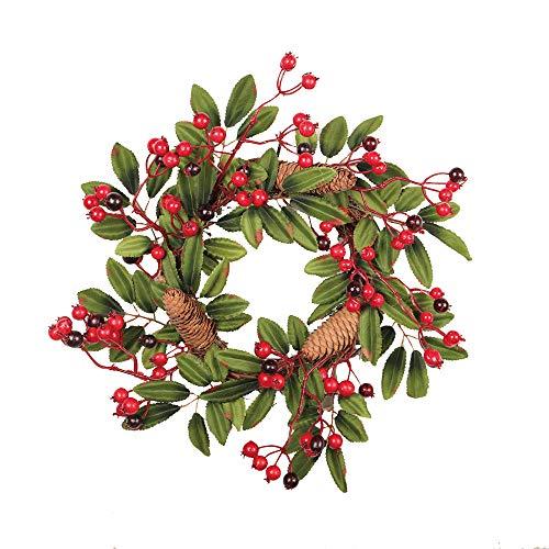 Wokee 40cm Pine Cones Fall Tür Kranz Tür Wand Ornament Wandtattoos Wandbilder Wall Stickers Wandaufkleber Wallprint Weihnachten Thanksgiving Dekoration - Weihnachten Beleuchtete Geschenkboxen