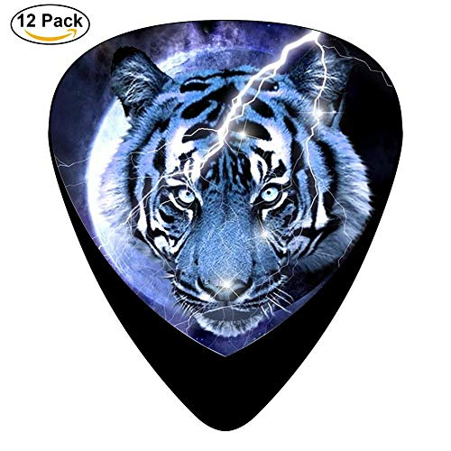 Tiger Flash Celluloid Electric Guitar Picks 12-pack Plectrums For Bass Music Tool
