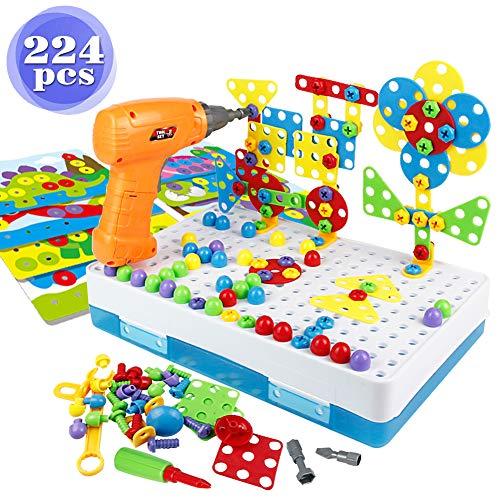 yoptote Mosaique Puzzle Enfant 3D Perceuse Electrique Outils...
