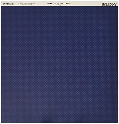 BoBunny Double Dot Double-Sided Textured Cardstock 12x12-Dark Denim 25 per pack by Bo Bunny -