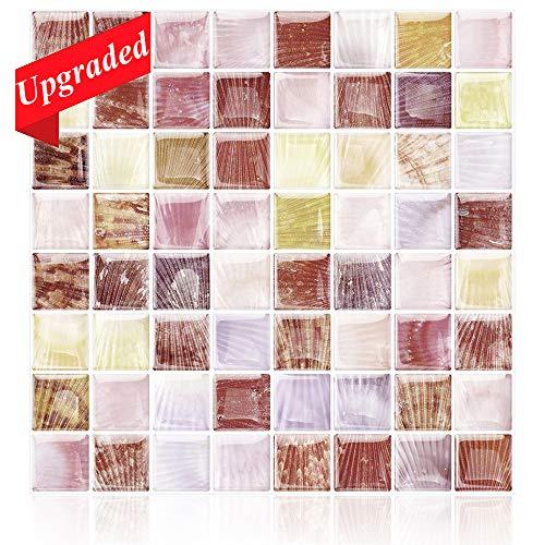 HomeyMosaic Fliesen-Aufkleber, Marmoroptik, 30,5 x 30,5 cm, zum Aufkleben auf Fliesen für Küche, Badezimmer, Vinyl-Hintergrund 12' X 12'/ Box of 5 Sheets...
