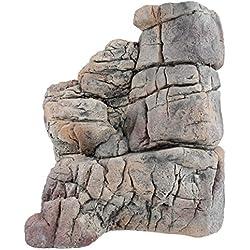 Acuami afloramientos rocosos para terrarios - Meseta de Pared para Reptiles y Anfibios - Accesorios y decoración en Aspecto de Piedra - XL