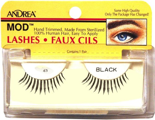 Andrea Strip Lashes estilo 43 – negro 24310