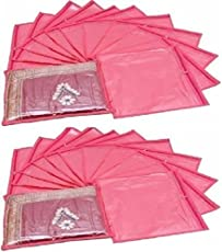 Ridhi & Sidhi Pink Singal Saree/Suit Cover Pack of 20.