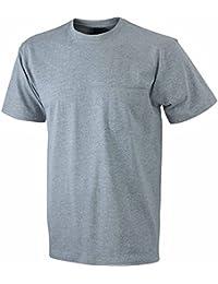 JAMES & NICHOLSON - t-shirt manches courtes Workwear - travail - poche poitrine - JN920 - homme