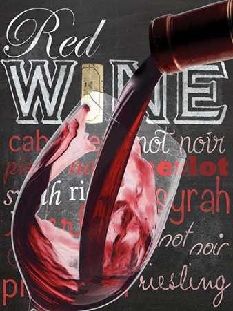 Fine Art Print–Wein Glas von a.d. Linien, 27 x 36