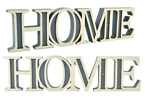 Schriftzug Home Dekobuchstaben Holz Buchstaben Wohnzimmer Deko Tischdeko  39cm