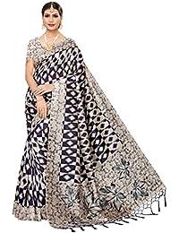ANNI DESIGNER Silk Saree with Blouse Piece (LAVINA Colors_Free Size)
