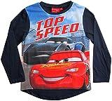Cars Disney 3 Langarmshirt Lightning McQueen Jungen (Blau, 128)