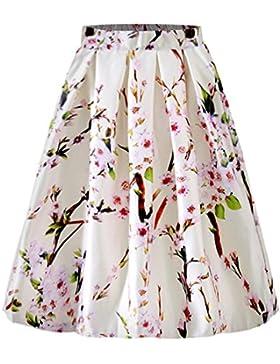 Abiti Gonne | urope e gli Stati Uniti del vento di moda cento-giro grande stampa abito | Vestiti da donna,Bianco...