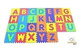 Assemblemat® - Soft Alphabet Puzzle Play Mats - Interlocking Foam Mat For Children - Activity Puzzle Playmats - Floor Protection - EVA Foam Rubber Alphabet Mat - A - Z = 26 Mats in total