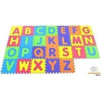 Alfabeto suave Alfombrilla de juego - Alfombrilla de bloqueo para niños - Actividad Puzzle Playmats - Protección de piso - Espuma EVA Alfabeto de alfombra de goma - A - Z = 26 Tapetes en total - Peluches y Puzzles precios baratos