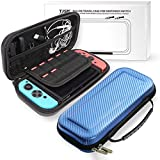 DYTesa for Nintend Switch Portable Bag Carrying Pouch Shell Hard Carbon Fiber Travel Case