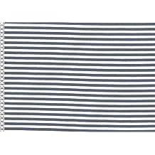 Tela de Jersey–Extra ancho, diseño de nubes, color azul swaj21–por metro, tela de Jersey Media