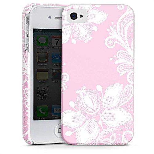 Apple iPhone 5c Silikon Hülle Case Schutzhülle Blumen Spitze Muster Premium Case glänzend