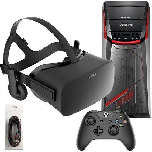 Oculus Rift 3 Items Bundle: Oculus Rift Virtual-Reality Headset & ASUS G11CD Desktop Package 8GB 1TB...
