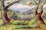 Landscape at Les Collettes, 1910(Oil on Canvas) (69641), Aluminium-Dibond, 140 x 90 cm