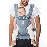 Ergo Baby alleskönner portabebè 4 in 1 posizioni Omni 360, con tasca porta Daisy, Blu