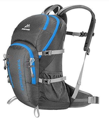 Männliche und weibliche Mehrzweck outdoor wasserdichte Rucksack Tasche Wandern Sport im freien Schultertaschen 40 L gray