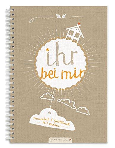 """Gästebuch für Erwachsene""""IHR BEI MIR"""" A5, braun beige, Freundebuch für Erwachsene, im neuen Design"""