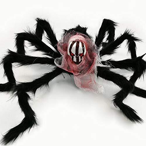 Ghost Head Plüsch Spider Bar KTV Home Grauenhafte Dekoration Terror Halloween Prop Black Spider Spielzeug,Color1 ()