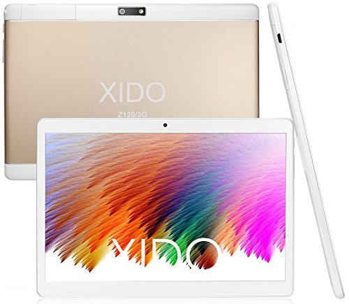 XIDO Z120/3G, Tablet Pc 10 Zoll, (10.1″), 2GB RAM, PS Display 1280×800, 3G Dual Sim, Android 5.1 Lollipop, 32GB Speicher, Quad Core, Computer Wlan (Gold)