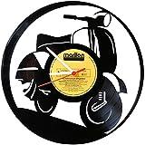 Orologio da parete in vinile disco orologio VESPA Upcycling Design Orologio da parete decorativo Vintage Orologio da parete della decorazione del retro orologio Made in Germany